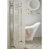 Redroom Elan Curved Heated Towel Rail 800mm H x 500mm W - White