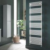 Redroom TT Lux Designer Heated Towel Rail 675mm H x 496mm W - Quartz White