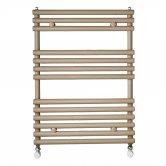 Redroom TT Designer Heated Towel Rail 675mm H x 496mm W - Quartz Beige