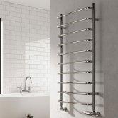 Reina Aliano Designer Heated Towel Rail 1000mm H x 500mm W Chrome