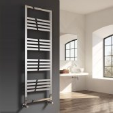 Reina Bolca Designer Heated Towel Rail 870mm H x 485mm W Polished