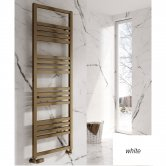 Reina Bolca Designer Heated Towel Rail 870mm H x 485mm W White