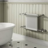 Reina Camden Radiator Heated Towel Rail 508mm H x 680mm W White/Chrome