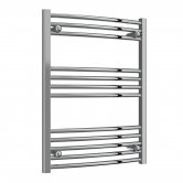 Reina Capo Curved Heated Towel Rail 800mm H x 600mm W Chrome