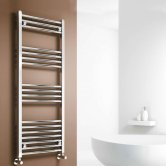 Reina Capo Straight Heated Towel Rail 1200mm H x 500mm W Chrome