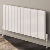 Reina Casina Double Horizontal Aluminium Radiator 600mm H x 470mm W White