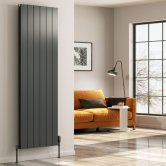 Reina Casina Double Vertical Aluminium Radiator 1800mm H x 375mm W Anthracite