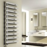 Reina Cavo Designer Heated Towel Rail 530mm H x 500mm W Brushed Stainless Steel