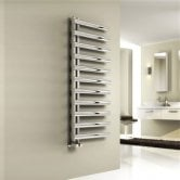 Reina Cavo Designer Heated Towel Rail 1230mm H x 500mm W Polished Stainless Steel