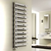 Reina Cavo Designer Heated Towel Rail 1230mm H x 500mm W Brushed Stainless Steel