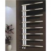 Reina Celico Designer Heated Towel Rail 1000mm H x 500mm W Polished Stainless Steel