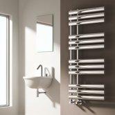 Reina Chisa Designer Heated Towel Rail 820mm H x 500mm W Chrome