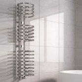Reina Claro Designer Heated Towel Rail 1200mm H x 300mm W Chrome
