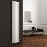 Reina Colona 2 Column Vertical Radiator 1800mm H x 380mm W - White