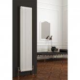 Reina Colona 3 Column Vertical Radiator 1800mm H x 380mm W - White