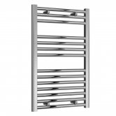 Reina Diva Straight Heated Towel Rail 800mm H x 500mm W Chrome