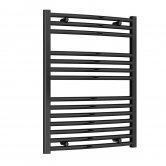 Reina Diva Curved Heated Towel Rail 800mm H x 600mm W Matt Black