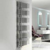 Reina Elisa Designer Heated Towel Rail 1550mm H x 500mm W Chrome