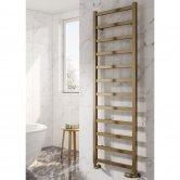 Reina Fano Designer Heated Towel Rail 1500mm H x 485mm W Bronze Satin