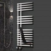 Reina Felino Designer Heated Towel Rail 1200mm H x 500mm W Chrome