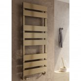 Reina Fermo Flat Panel Heated Towel Rail 710mm H x 480mm W Bronze Satin