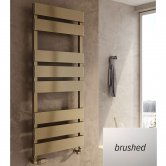 Reina Fermo Flat Panel Heated Towel Rail 710mm H x 480mm W Brushed