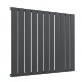 Reina Flat Single Designer Horizontal Radiator 600mm H x 810mm W Anthracite