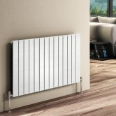 Reina Flat Single Designer Horizontal Radiator 600mm H x 440mm W White