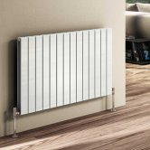 Reina Flat Double Designer Horizontal Radiator 600mm H x 588mm W White