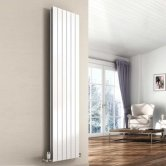 Reina Flat Double Designer Vertical Radiator 1800mm H x 292mm W White