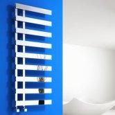 Reina Florina Designer Heated Towel Rail 800mm H x 500mm W Chrome