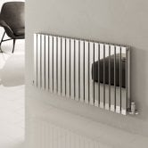 Reina Flox Double Horizontal Radiator 600mm H x 413mm W Polished