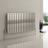 Reina Flox Single Horizontal Radiator 600mm H x 413mm W Polished
