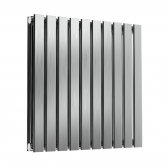 Reina Flox Double Horizontal Radiator 600mm H x 590mm W Brushed