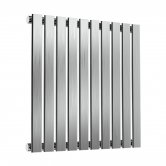 Reina Flox Single Horizontal Radiator 600mm H x 590mm W Brushed