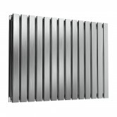Reina Flox Double Horizontal Radiator 600mm H x 826mm W Brushed
