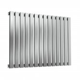 Reina Flox Single Horizontal Radiator 600mm H x 826mm W Brushed