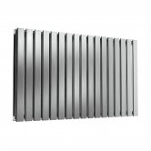 Reina Flox Double Horizontal Radiator 600mm H x 1003mm W Brushed