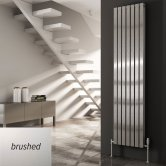 Reina Flox Double Vertical Radiator 1800mm H x 295mm W Brushed