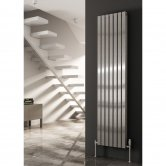 Reina Flox Double Vertical Radiator 1800mm H x 295mm W Polished
