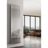Reina Flox Single Vertical Radiator 1800mm H x 295mm W Polished