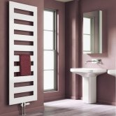 Reina Fondi Designer Heated Towel Rail 1229mm H x 500mm W White