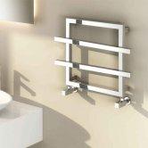 Reina Lago 2 Designer Heated Towel Rail 450mm H x 600mm W Chrome