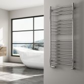 Reina Luna Straight Heated Towel Rail 1200mm H x 500mm W Stainless Steel