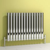 Reina Nerox Single Designer Horizontal Radiator 600mm H x 413mm W Polished Stainless Steel