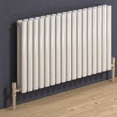 Reina Neva Double Designer Horizontal Radiator 550mm H x 826mm W White