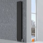 Reina Neva Double Designer Vertical Radiator 1800mm H x 413mm W Anthracite