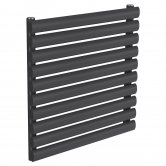 Reina Nevah Single Designer Horizontal Radiator 590mm H x 600mm W Anthracite
