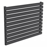 Reina Nevah Single Designer Horizontal Radiator 590mm H x 800mm W Anthracite