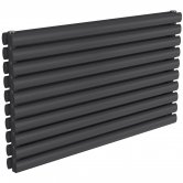 Reina Nevah Double Designer Horizontal Radiator 590mm H x 1000mm W Anthracite